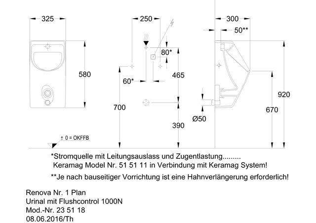 Renova Nr1 Plan Urinal M Fc1000 N Ihr Sanitärinstallateur Aus